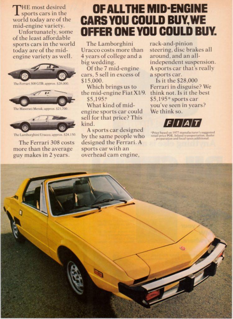 Fiat X1 9 Advert 3